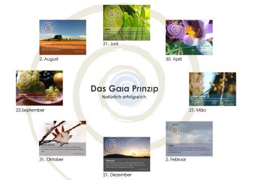 Gaia-Prinzip: Entsprechungen im Jahreslauf. Copyright: Gaia-Akademie Eschelberg, Österreich